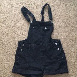 Bershka Black Short Overalls